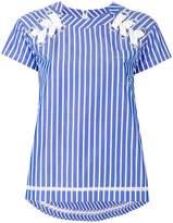 Sacai Striped Eyelet Shirt
