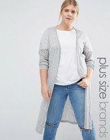 Junarose Longline Knitted Cardigan With Side Splits