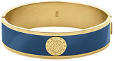Dyrberg/Kern Dyrberg Kern Hinge Monogram Enamel Bangle, Gold/Blue