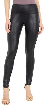 Jag Jeans Faux Leather Leggings (Black) Women's Clothing