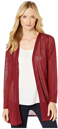 MICHAEL Michael Kors Open Cardigan (Dark Brandy) Women's Clothing