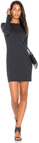Enza Costa Long Sleeve Crewneck Mini Dress in Navy. - size 0 / XS (also in 1 / S,2 / M,3 / L)