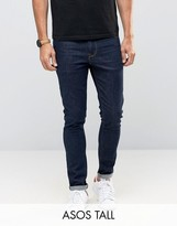 Asos Tall Super Skinny Jeans In Indigo