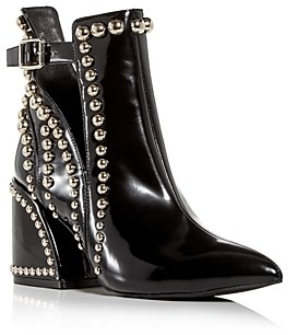 Jeffrey Campbell Women's Studded Pointed-Toe Block-Heel Booties