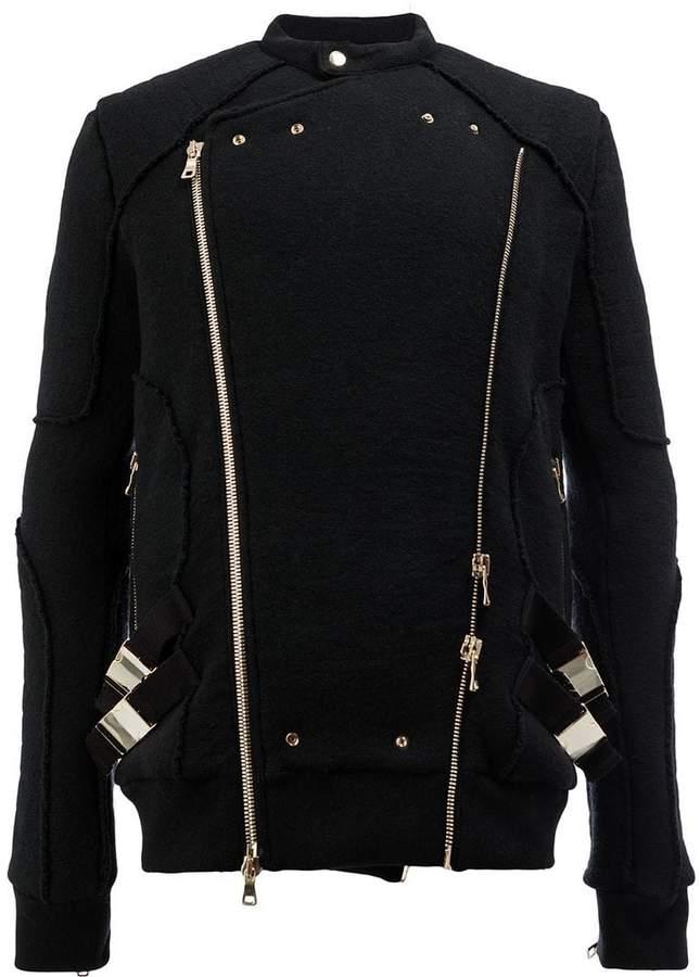 Balmain knitted biker jacket