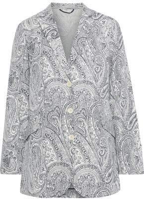 Etro Printed Cotton, Silk And Linen-blend Blazer