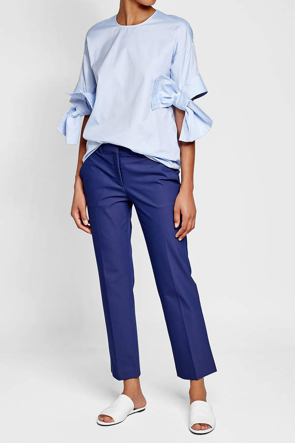 Theory Cropped Pants with Cotton