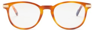 Cartier Havana Round Tortoiseshell-acetate Glasses - Clear