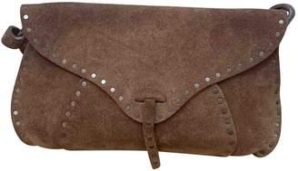 Celine Camel Suede Clutch bags