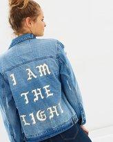 Spiritual Gangster I Am The Light Denim Jacket