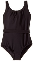 Bloch Glitter Bow Belted Leotard Girl's Jumpsuit & Rompers One Piece