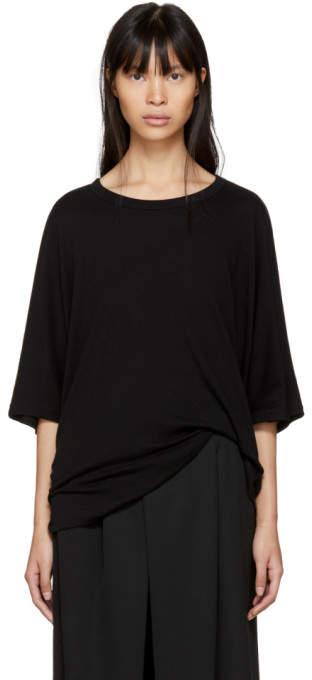 Y's Ys Black Drape T-Shirt