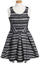 Hannah Banana Girl's Stripe Fit & Flare Dress
