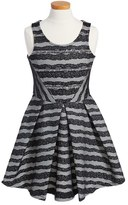 Hannah Banana Stripe Fit & Flare Dress (Big Girls)