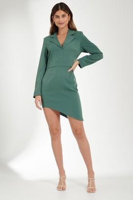 Mathilde Gøhler X NA-KD Asymmetric Bottom Blazer Dress