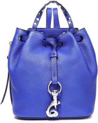 Rebecca Minkoff Studded Textured-leather Shoulder Backpack