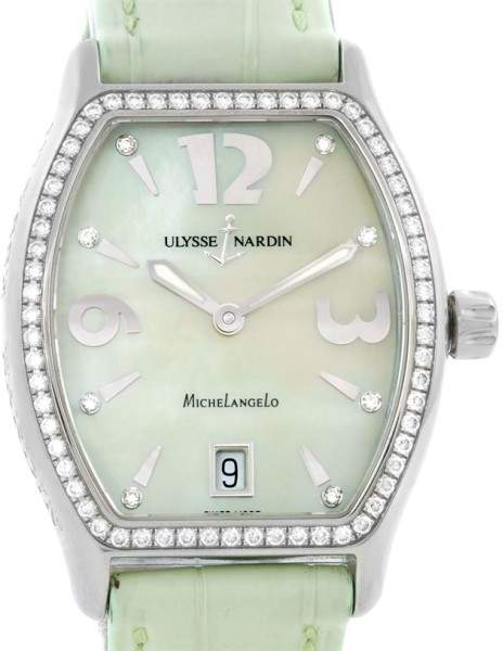 Ulysse Nardin Michelangelo 113-48 Stainless Steel Diamond 32mm Womens Watch