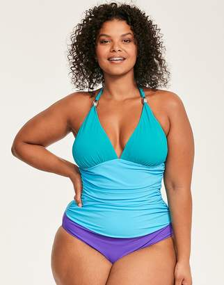 Figleaves Colourblock Curve Shaping Halter Swimsuit