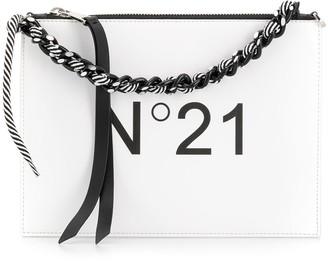 No.21 logo print shoulder bag