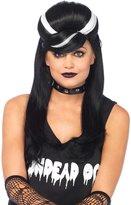 Leg Avenue Women's Frankie Bouffant Wig, Black/White