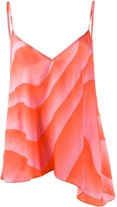 Just Cavalli abstract-print slip top