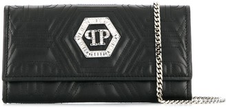 Philipp Plein logo plaque purse