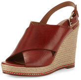 Andre Assous Cora Leather Espadrille Wedge Sandal, Burnt Sienna