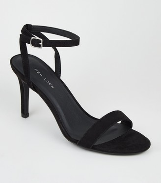 New Look Suedette Ankle Strap Stiletto Heels