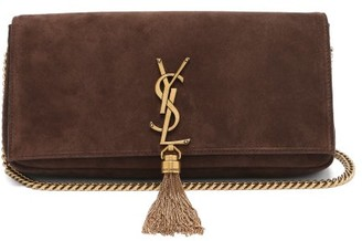 Saint Laurent Kate Tasselled Suede Cross-body Bag - Brown
