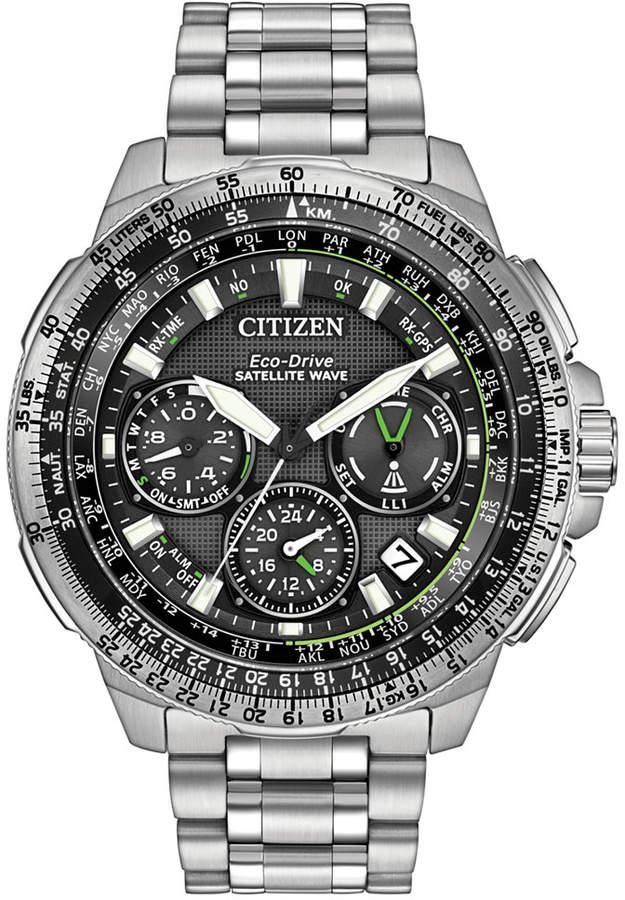 Citizen Men's Chronograph Eco-Drive Stainless Steel Bracelet Watch 47mm CC9030-51E