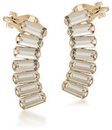 ABS by Allen Schwartz Somewhere To Be Goldtone Clear Crystal Ear Climbers