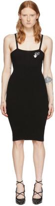 Off-White Black Basic Midi Dress