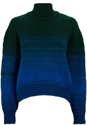 Victoria Victoria Beckham Cropped Ombre Mock Neck Sweater