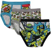 "Nickelodeon TMNT Little Boys' ""4 Brothers"" 3-Pack Briefs - white/olive/blue"