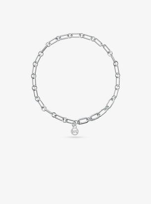 Michael Kors Precious Metal-Plated Sterling Silver Chain Link Starter Collar Necklace