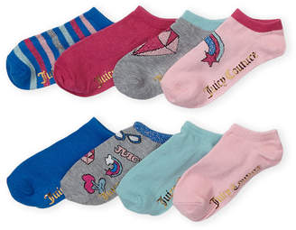 Juicy Couture Girls 4-6x) 8-Pack Grey Patches No-Show Socks