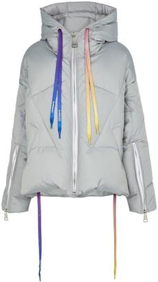 KHRISJOY Grey Hooded Padded Shell Jacket