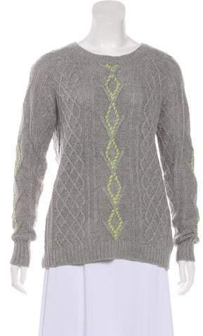 360 Sweater Wool-Blend Crew Neck Sweater
