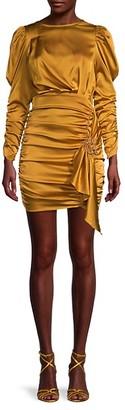 For Love & Lemons Ruched Mini Dress