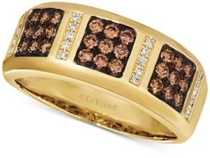 LeVian Le Vian Chocolatier Men's Diamond Band (5/8 ct. t.w.) in 14k Gold