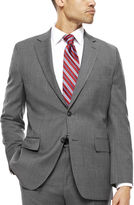 STAFFORD Stafford Travel Classic-Fit Stretch Charcoal Windowpane Suit Jacket
