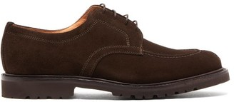 Cheaney Newton Lace-up Suede Shoes - Mens - Dark Brown