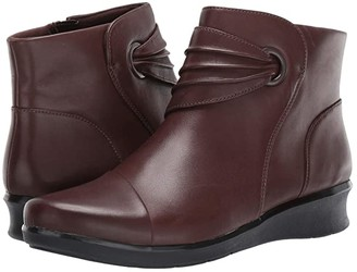 Clarks Hope Twirl (Dark Brown Leather) Women's Boots