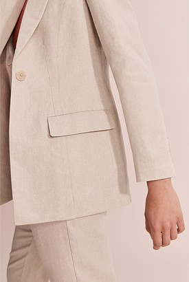 Country Road Darted Organically Grown Linen Blazer