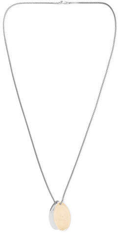 Miansai Penny Chain 14-Karat Gold And Sterling Silver Necklace
