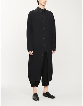 Yohji Yamamoto Relaxed V-neck cotton-knit cardigan