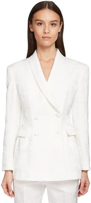 Ermanno Scervino Double Breasted Silk Jacquard Jacket