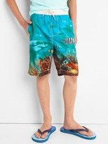 Gap Shark reef swim trunks