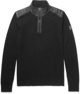 Belstaff - Kilmington Quilted Shell-trimmed Merino Wool Half-zip Sweater