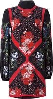 Alexander McQueen floral mini dress with scarf detail - women - Silk - 40